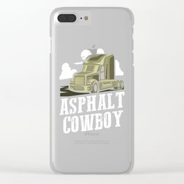 Asphalt Cowboy | Trucker Clear iPhone Case