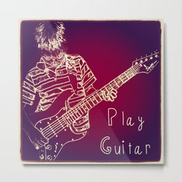 Play Guitar Metal Print