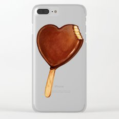 Ice Cream Pattern - Heart Clear iPhone Case