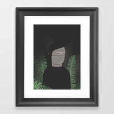 In the night ferns Framed Art Print