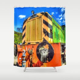 Ruston Diesel Engine Shower Curtain