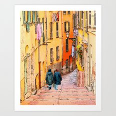 Rue du Malonat Art Print