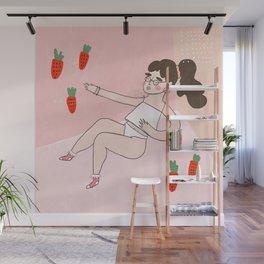 Strawberry Gal Wall Mural