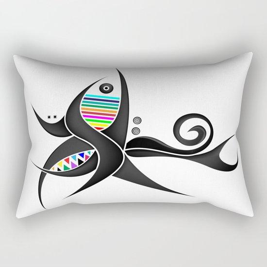 Tribal Tattoo Rectangular Pillow