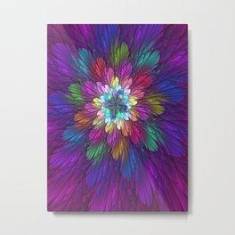 Psychedelic Flower Metal Print