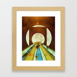 The Escalator Framed Art Print