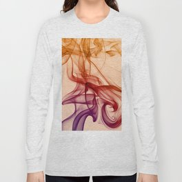 Smoke composition in pastel tones Long Sleeve T-shirt