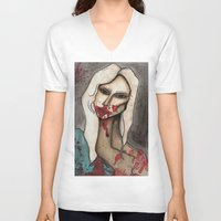hayley williams V-neck T-shirts featuring The Countess // For Hayley by Bloodelf