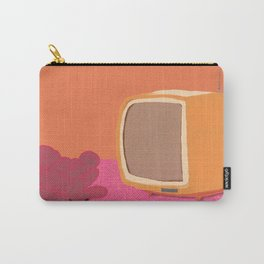 TV and Fuchsia succulent  Carry-All Pouch