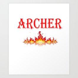 Smokin Hot Archer Art Print