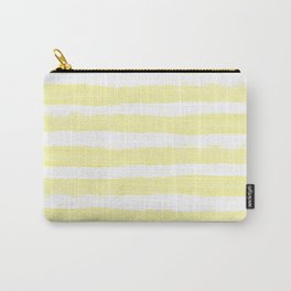 Sunny Yellow Handdrawn horizontal Beach Stripes - Mix and Match with Simplicity of Life  Carry-All Pouch