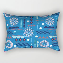 GEOMETRIC BLUE Rectangular Pillow