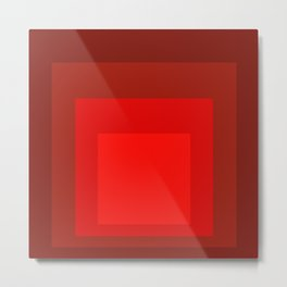 Block Colors - Reds Metal Print
