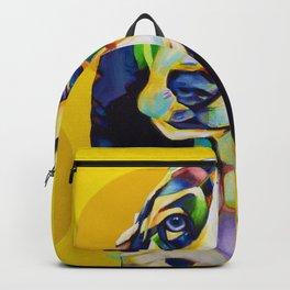 Pop Art Basset Hound Backpack