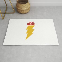 Shazam (Say My Name!) DC Comics Fan Art Rug