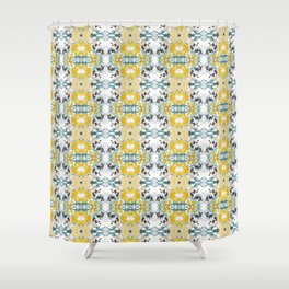 bee s flower tapestry Shower Curtain