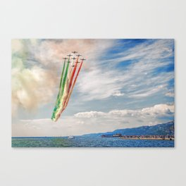 Airshow of Frecce Tricolori Canvas Print