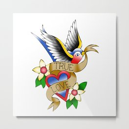 True Love Sparrow Metal Print