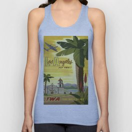 Vintage poster - Los Angeles Unisex Tank Top