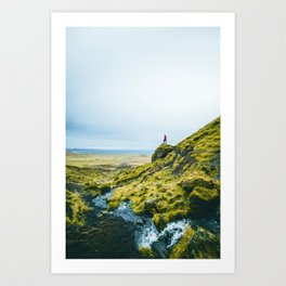 He Found the River's Valley (Color) Art Print