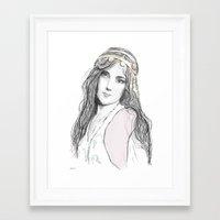 boho Framed Art Prints featuring Boho by Lyndsey Ferguson