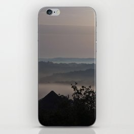 Foggy Summer Morning in France iPhone Skin