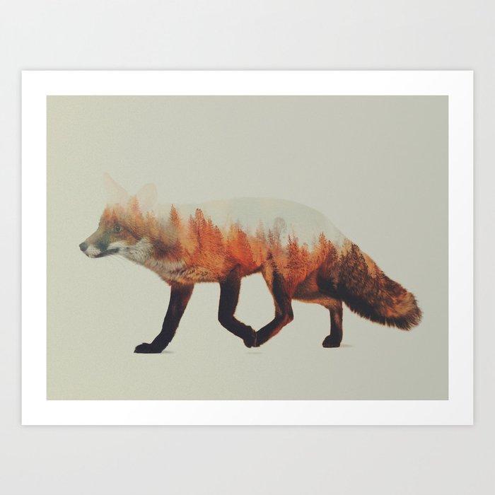 Sunday's Society6 | Double exposure fox photography art print