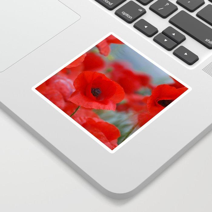 poppy addiction Sticker