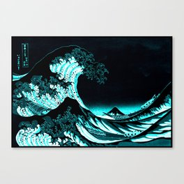 The Great Wave : Dark Teal Canvas Print