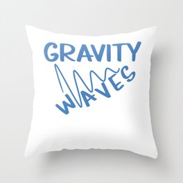 Funny & Awesome Gravity Tshirt Design Gravity Waves Throw Pillow