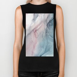 Calming Pastel Flow- Blush, grey and blue Biker Tank