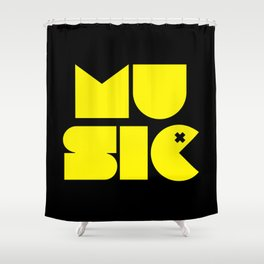 Music Man Rave Quote Shower Curtain