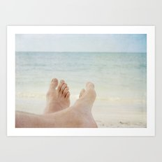 Have fun on beach! Art Print