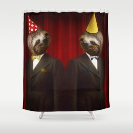 The Legendary Sloth Brothers Shower Curtain