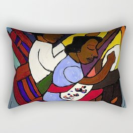 African American Masterpiece 'Art Class' by William Henry Johnson Rectangular Pillow