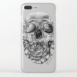 Skull and Rose Clear iPhone Case