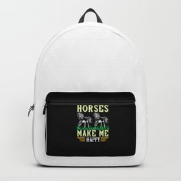 Horse - Horses Make Me Happy Backpack