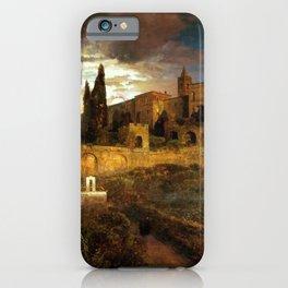 Villa d'Este in Tivoli by Oswald Achenbach iPhone Case