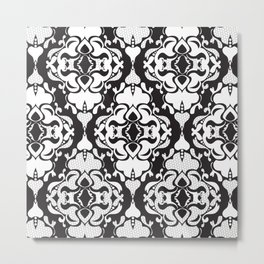Lace Damask Metal Print