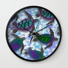 SEA OF TURTLES Wall Clock