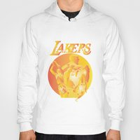 lakers Hoodies featuring Lakers by Istvan Antal