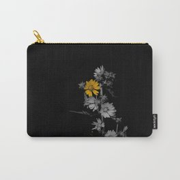 Partial Color Flower Carry-All Pouch