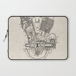 Internal Combustion Engine Vintage Patent Hand Drawing Laptop Sleeve