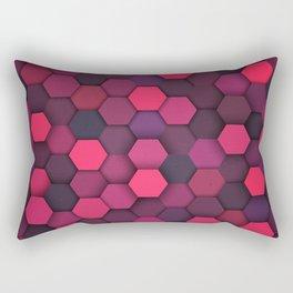 Purple Shade Hexagon Geometric Patterns Rectangular Pillow