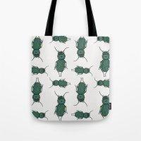 beetle Tote Bags featuring Beetle by artworkbyemilie