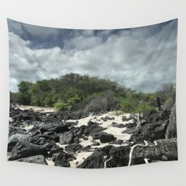 sand and rocks of the Galapagos Wall Tapestry
