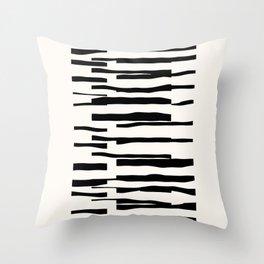 Organic No. 13 Black & Off-White #minimalism #decor #society6 Throw Pillow