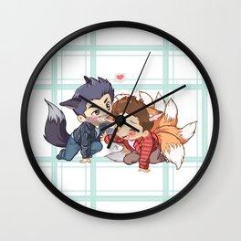 The Fox 'n The Wolf - Part 2 Wall Clock