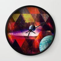 planet Wall Clocks featuring Planet by Tony Vazquez