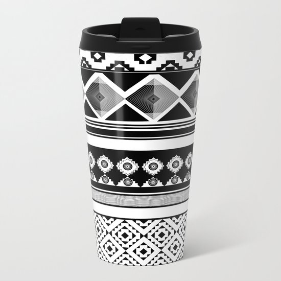 Modern Black 2 Metal Travel Mug